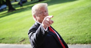 WASHINGTON, DC - MAY 30:  U.S. President Donald Trump answers questions on the comments of special counsel Robert Mueller while departing the White House May 30, 2019 in Washington, DC. Trump is scheduled to attend the commencement ceremony at the U.S. Air Force Academy in Colorado later in the day.(Photo by Win McNamee/Getty Images)